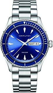 Hamilton Men's H37551141 Jazz Master Sea View Analog Display Swiss Quartz Silver Watch