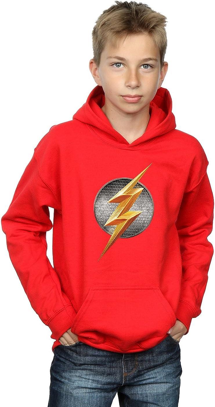 DC Comics Boys Justice Beauty Large-scale sale products League Movie Emblem Flash Hoodie