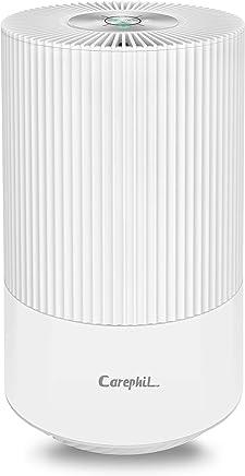 Carephil 空気清浄機 卓上 小型 コンパクト 6畳 HEPAフィルター 静音 省エネ 脱臭 空気清浄機 花粉 ホコリ タバコ ペット pm2.5