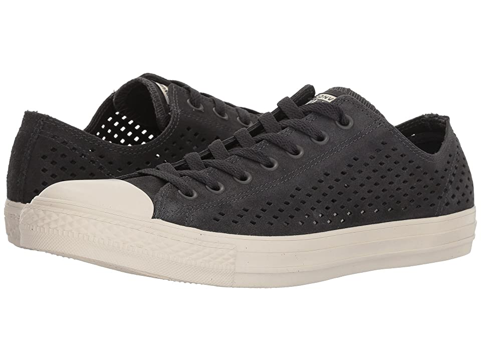 Converse Chuck Taylor(r) All Star(r) Ox Perf Suede (Almost Black/Almost Black/Driftwood) Classic Shoes