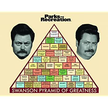 Culturenik Parks and Recreation Ron Swanson Pyramid Workplace Comedy TV Television Show Poster Print, Unframed 11x14