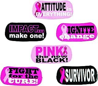 Pink Ribbon Face Tattoos (144 Tattoos) /12 Sheets of 12/Breast Cancer AWARENESS/SURVIVOR/12 DOZEN