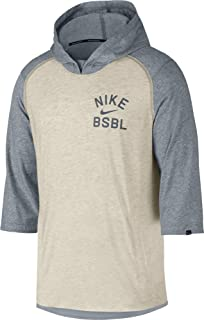 online store 87ef2 f7f25 Nike Men s 3 4 Fleece Top Flux Baseball Hoodie