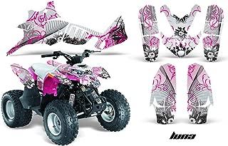 AMRRACING Polaris Predator 90 All Years Full Custom ATV Graphics Decal Kit - Luna Pink