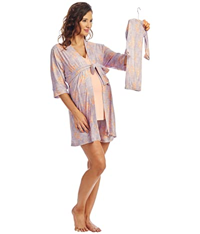 Everly Grey Adalia Maternity/Nursing Mommy Me Five-Piece PJ Set (Boho) Women