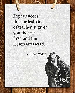 "Oscar Wilde Quotes Wall Art- ""Experience is the Hardest Teacher""- 8 x 10"