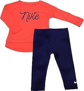 Nike Infant Girls Dri-Fit Tunic and Leggings Set Rush Violet 24 Months