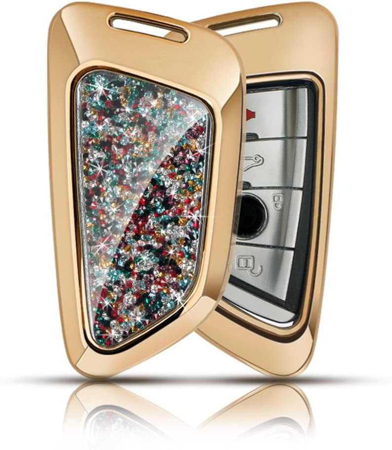 Las Vegas Mall YUWATON Fit for BMW Key Case Chicago Mall Cover Bling 6 3 4 1 5 Accessories 2
