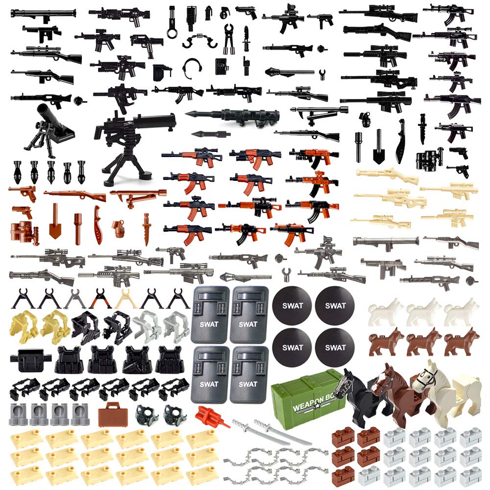 Nicolababe Accessories Military Minifigures Compatible