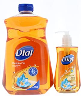 Dial Miracle Oil Hand Soap Refill, 52 fl oz and Marula Oil with pump 9.375 Fl Oz.