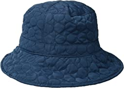 Quilted Big Brim Rain Hat