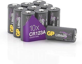 CR123A Litium Batteri - 10-Pack | GP Extra | 3V Litiumbatteri CR123 - Hög prestanda