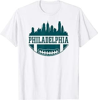 Philadelphia Football Vintage Philly Skyline Eagle Gift T-Shirt