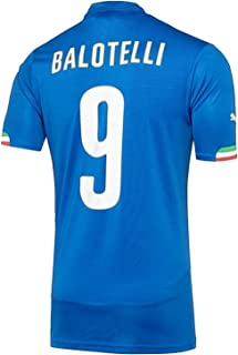 PUMA Balotelli #9 Italy Home Jersey World Cup 2014 (Authentic Name and Number) Youth