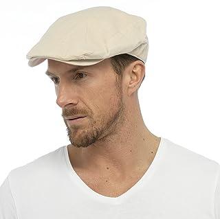Tom Franks Men's Cotton Lined Summer Peak Flat Cap Hat