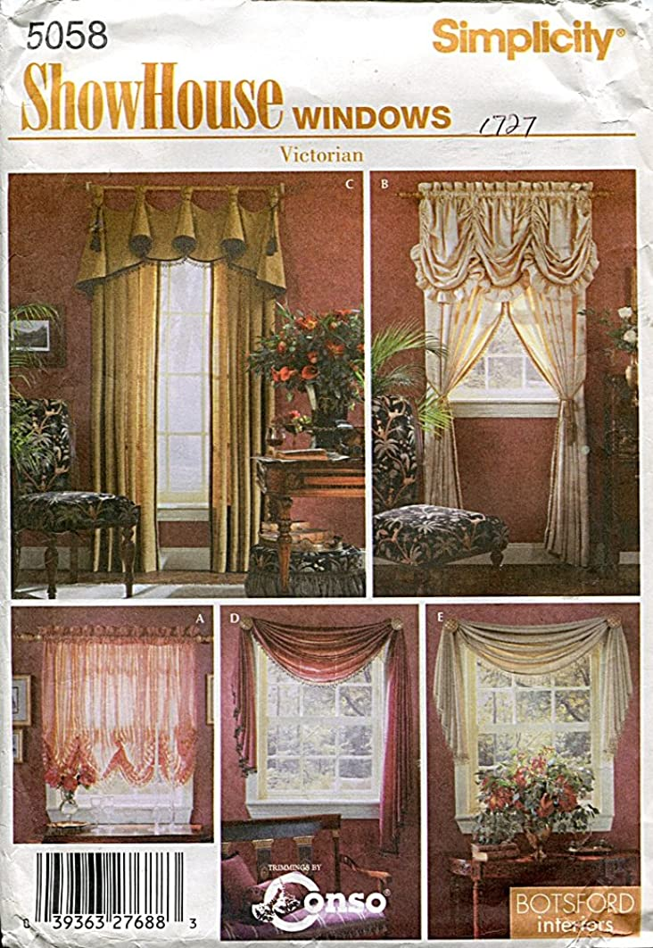 Simplicity ShowHouse Windows Pattern 5058 Victorian