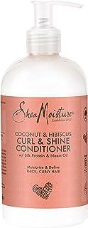 Acondicionador para rizos más brillantes con coco e hibiscus de Shea Moisture 379ml