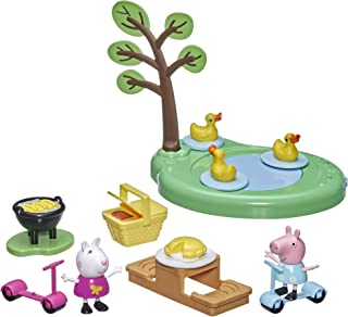 Peppa Pig Peppa's Adventures Peppa's Picnic Playset, Preschool Toy with 2 Figures and 8 Accessories, for Ages 3 and Up