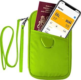 Passport Wallet Holder, Travel Document Organizer for Family Waterproof(RFID Green)