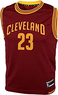 OuterStuff Lebron James Cleveland Cavaliers #23 Youth Road Jersey Maroon (Youth Medium 10/12)