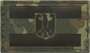 IR Flecktarn Germany Flag Deutschland Flagge Adler 2x3.5 IFF Tactical Morale Hook&Loop Patch