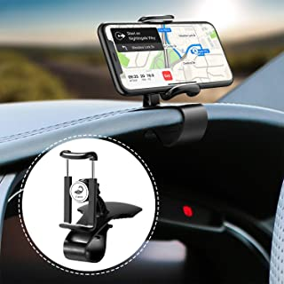 Cutier Car Phone Mount, Dashboard Phone Holder with 360 Degree Rotation Adjustable Mobile Clip Stand Suitable for 4-7 Inches Smartphones