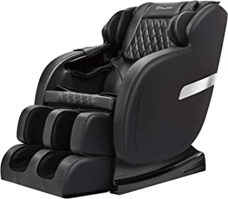 Real Relax Massage Chair, Full Body Zero Gravity Shiatsu 3D Robots Hands S Track Recliner, Black