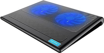 TECKNET Base de Refrigeración para Ordenador Portátil con 2 Ventiladores Silenciosos y Potencias (9-16 Pulgadas, iluminación LED, 2 USB)