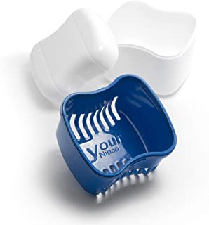Retainer-Denture Bath-Dental Appliance Cleaning Case Size Standard with Easy Grip – Color Admiral Blue
