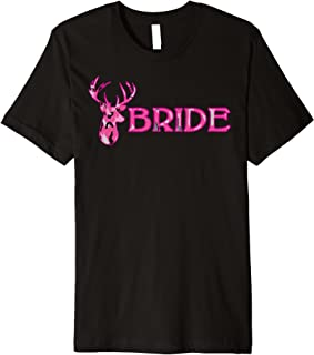 Wedding Bachelorette Deer Camouflage Bride Shirt