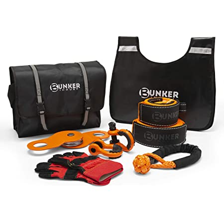 D Ring Shackle,a Compact Recovery Bag 33000Lbs Capacity Recovery Snatch Strap ALL-TOP 4X4 Epic Accessory Recovery Tool Kit with Orange 4 x 20 4x20,33000lbs, orange