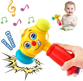 HOLA Baby Toys Boy Toys Light & Musical Baby Hammer Toy for 12 Months up | Infant Toys Funny Changeable Eyes Hammer Toddle...