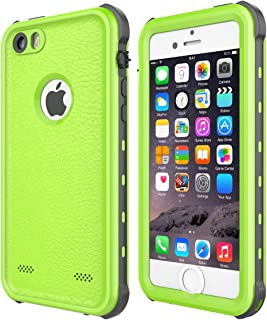 iPhone 5 5S SE Case Waterproof, iThrough ã€NEW】iPhone 5 5S SE Underwater Case/2M, Shockproof Dirtproof Snowproof Rain Proof, Heavy Duty Full Protection Phone Case Cover for iPhone 5 5S SE (Green)