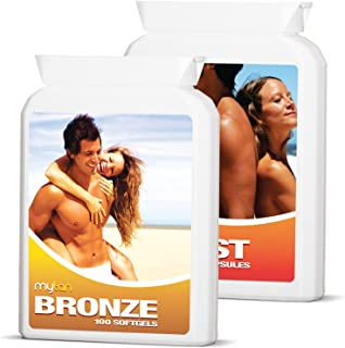 MyTan Ultimate Tanning Pack | Includes Both Bronze & Boost Tanning Pills With Discount Price | Worldclass Sun Tan Pills | Tan Faster, Darker, Longer | 200 Tan Tablets