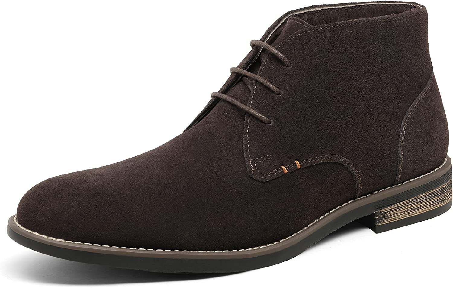Bruno Marc Men's Suede Leather Lace Up Oxfords Chukka Ankle Boots
