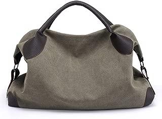 Shoulder Bags Large Capacity Travel Retro Lady Crossbody Bag Handbag Canvas 15.6-inch Laptop Casual Camera Bag Beach Shopping Bag Hobo Commute Tote Bag (45 × 17 × 30cm)