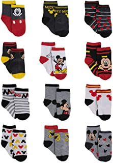Baby Boys Mickey Mouse Character Designs Socks 12 Pack (Newborn/Infant)