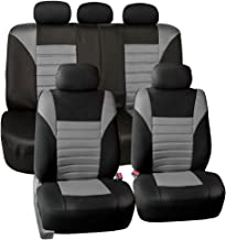 FH Group FB068115 Premium 3D Air Mesh Seat Covers Full Set (Airbag & Split Ready), Gray/Color- Fit Most Car, Truck, SUV, or Van