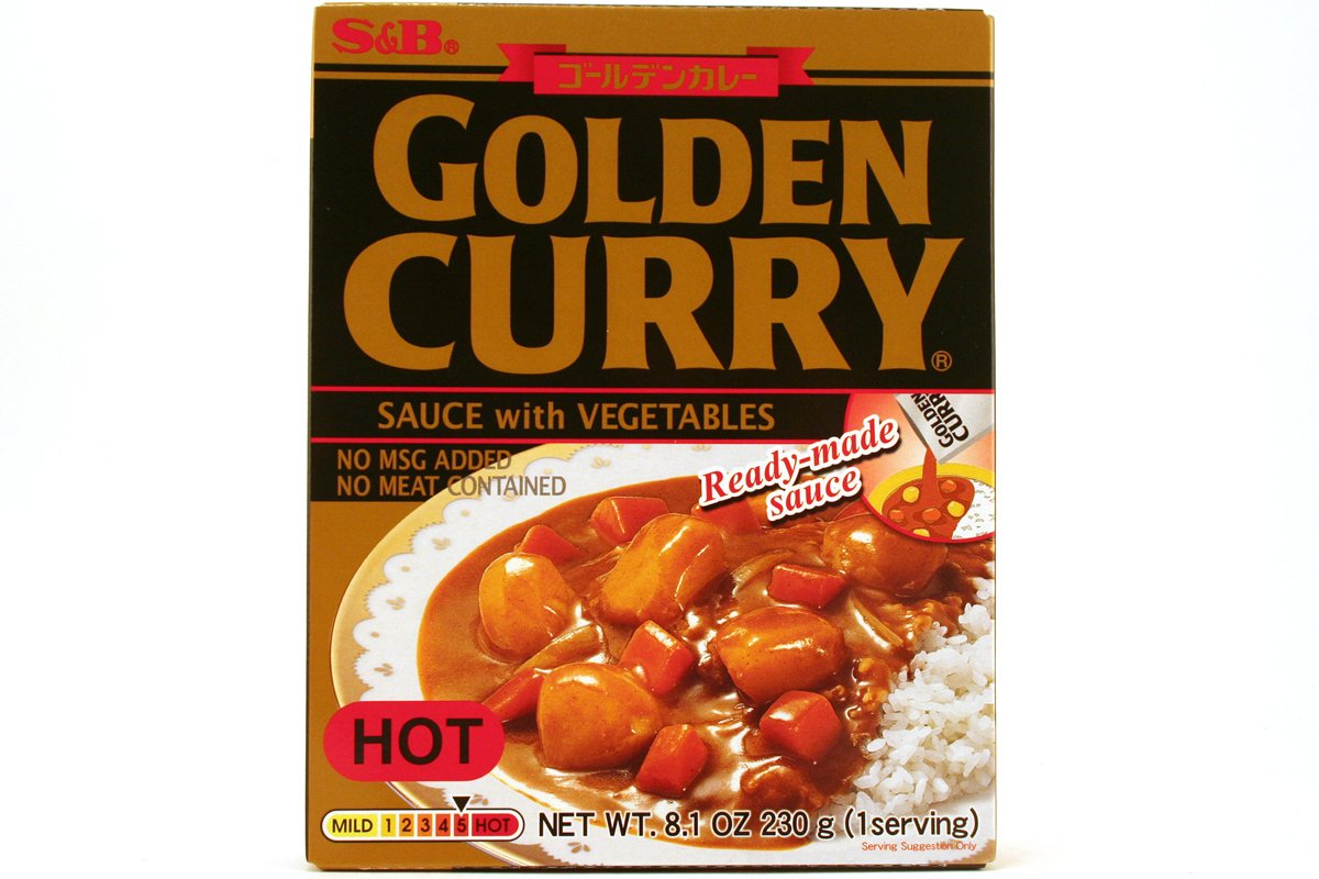 Golden Curry Sauce with Vegetable Hot 6 8.1oz of Minneapolis Mall Pack - Fresno Mall