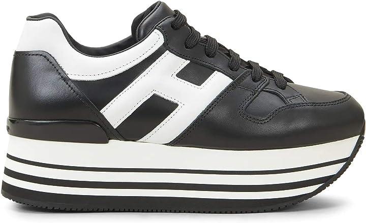 Scarpe hogan sneakers donna hxw2830t548hqk0002 pelle nero HXW2830T548HQK0002 36.5