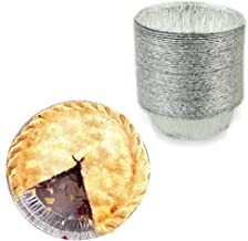 "4"" Round Tart/Small Pie Tin Foil Pans - Freezer & Oven Safe Disposable Aluminum - For Baking, Cooking, Storage & Reheating - Pack of 50"