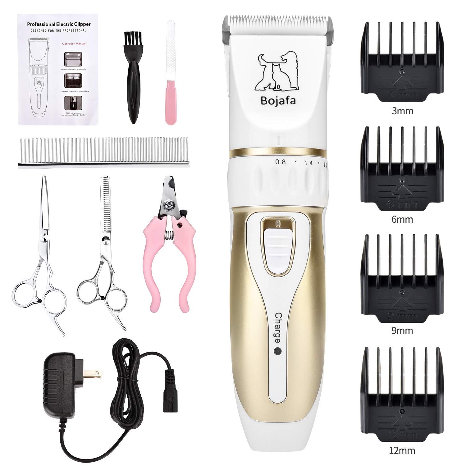 Bojafa Grooming Clippers Professional Rechargeable