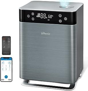Ultenic H8 - Humidificadores inteligentes para dormitorio, 4.3 L de niebla cálida y fría, llenado superior, APP y Alexa y ...