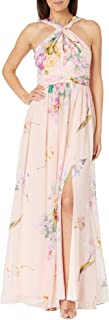 Women's Floral Printed Chiffon Gown