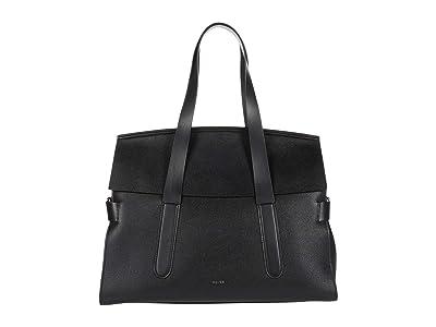 REISS Chancery Satchel (Black) Handbags