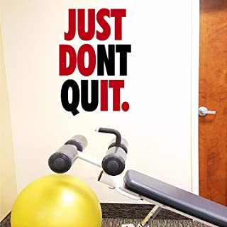 Jeyfel Decals. Fitness Wall Decals. Just Don't Quit. Just Do It. Vinyl Wall Art, Sticker Decal Gym.