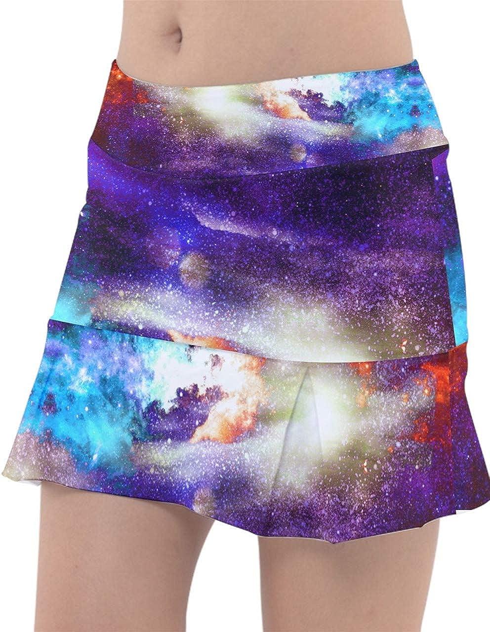 Las Vegas Mall PattyCandy Womens Sports Skort Celestial Galaxy Starry Art famous Sky N