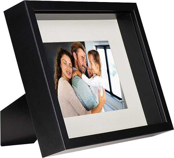 4122 opinioni per 20 x 25 cm Box 3D Cornice Portafoto con Passepartout 13 x 18 cm, Nero