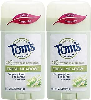 Tom's of Maine Women's Antiperspirant Deodorant Stick, Deodorant for Women, Antiperspirant for Women, Fresh Meadow, 2.25 Ounce, 2-Pack