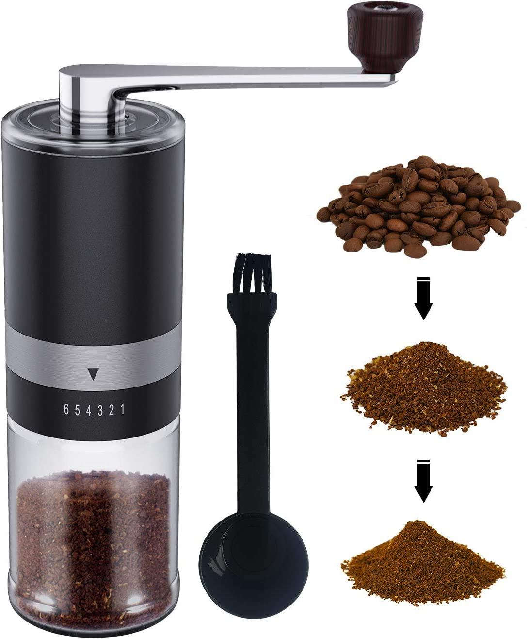 Manual Coffee Grinder with Finally resale start adjustable Premium St Ranking TOP2 Setting Coarse